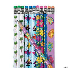 Wooden Tropical Pencils - 24 Pc.