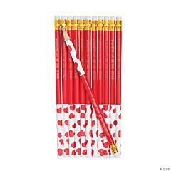 Wooden Valentine Pencils
