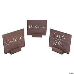 Wooden Wedding Sign Set