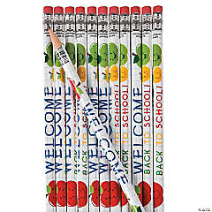 Wooden Welcome Back to School Pencils - 24 Pc.