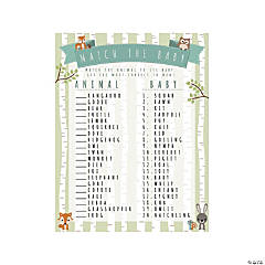 Woodland Baby Shower Match Game