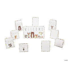 Woodland Party Cardstock Tabletop Signs