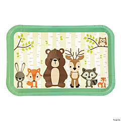 Woodland Party Dessert Plates