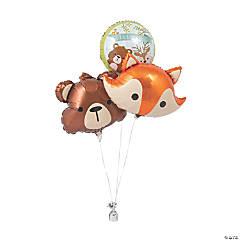 Woodland Party Mylar Balloons
