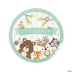 Woodland Party Paper Dinner Plates - 8 Ct.