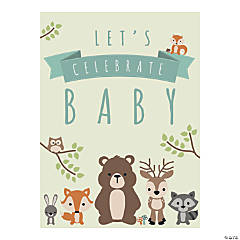 Woodland Party Welcome Baby Sign