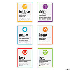 Words of Faith Definition Mini Cutouts