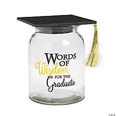 Words of Wisdom Graduation Jar