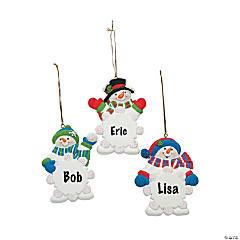 Wrirte-A-Name Snowman Snowflake Ornaments