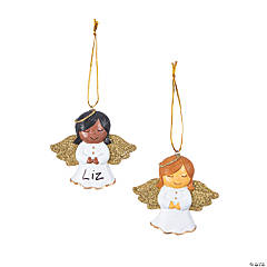 Write-a-Name Angel Ornaments