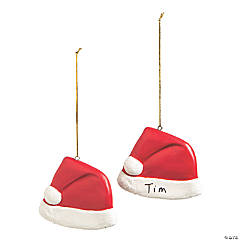 Write-A-Name Santa Hat Ornaments