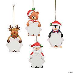 Write-A-Name Snowflake Character Ornaments