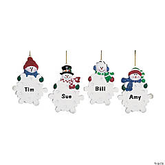 Write-A-Name Snowman Ornaments