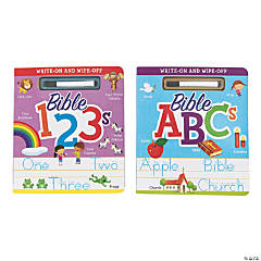 Write-On & Wipe-Off Bible ABCs & Bible 123s Books Set