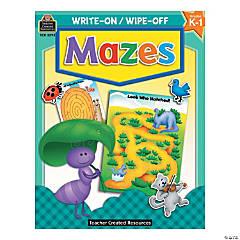 Write On, Wipe Off Mazes Book
