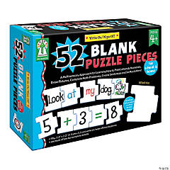 Write-On/Wipe-Off: 52 Blank Puzzle Pieces Puzzle, 2 Sets
