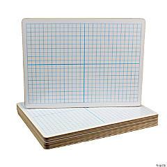 X Y Axis Dry Erase Board, Dual Sided, 9