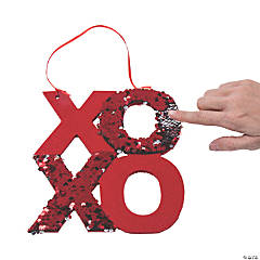 XOXO Flipping Sequin Hanging Sign