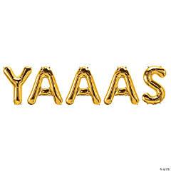 YAAAS Gold Mylar Balloon Kit