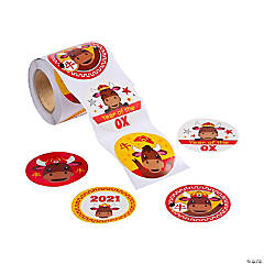 Year of the Ox Chinese New Year Stickers