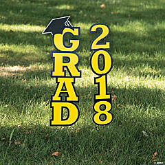Yellow 2018 Grad Yard Sign