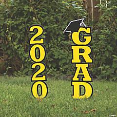Yellow 2020 Grad Yard Signs