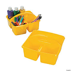 Yellow 3-Compartment Storage Caddies