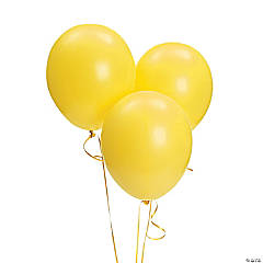 "Yellow 9"" Latex Balloons"