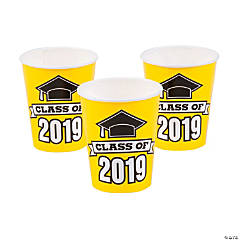 Yellow Class of 2019 Cups