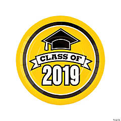 Yellow Class of 2019 Dinner Plates