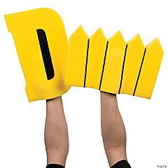 Yellow D Fence Foam Hands