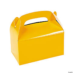 Yellow Favor Boxes - 12 Pc.