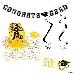 Yellow Graduation Party Room Decorating Kit