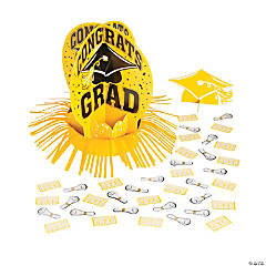 Yellow Graduation Table Decorating Kit