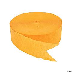 Yellow Jumbo Paper Streamers