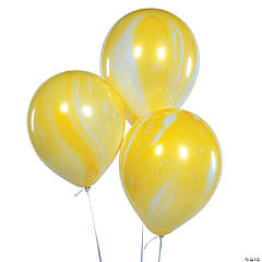 Yellow Marble Latex Balloons