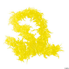Yellow Neon Genuine Feather Boas