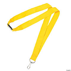 Yellow Nylon Breakaway Lanyards