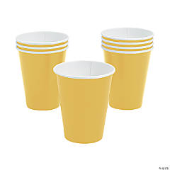 Yellow Paper Cups - 24 Ct.
