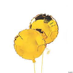 Yellow Round Mylar Balloons