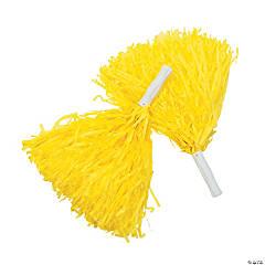 Yellow Team Spirit Cheer Pom-Poms - 12 Pc.