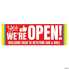 Yes We're Open Custom Banner - Large