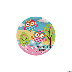 """You're A Hoot"" Paper Dessert Plates - 8 Ct."