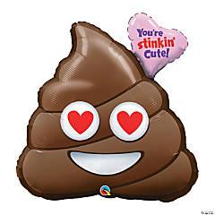 You're Stinking Cute Poop Emoji Mylar Balloon