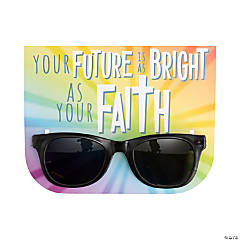 Your Future's as Bright as Your Faith Sunglasses with Card