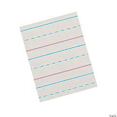 "Zaner-Bloser™ Newsprint Handwriting Paper, Dotted Midline, Grade 2, 1/2"" x 1/4"" x 1/4"" Ruled Short, 8"" x 10-1/2"", 500 Sheets Per Pack, 3 Packs"