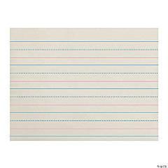 """Zaner-Bloser™ Newsprint Handwriting Paper, Dotted Midline, Grades Pre-K & K, 1-1/8"" x 9/16"" x 9/16"" Ruled Long, 10-1/2"" x 8"", 500 Sheets Per Pack, 3 Packs"""