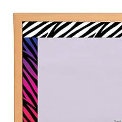 Zebra Print Double-Sided Bulletin Board Borders
