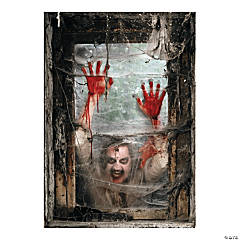 Zombie Window Backdrop Halloween Decoration