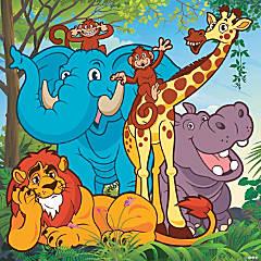 Zoo Adventure Backdrop Banner